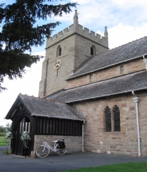The Tower of Burghill Church